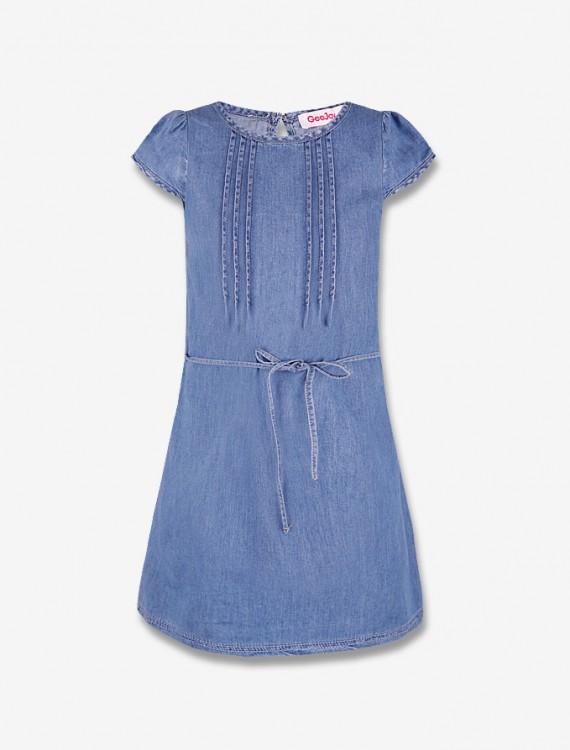 Джинсовое платье с поясом Глория Джинс