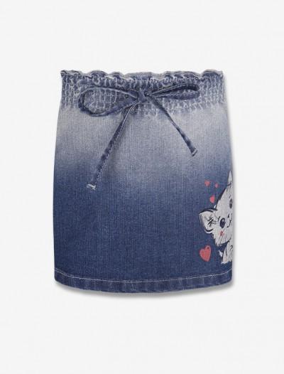 Джинсовая юбка с принтом Глория Джинс