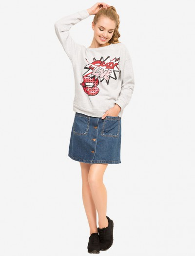 Джинсовая юбка с карманами Глория Джинс