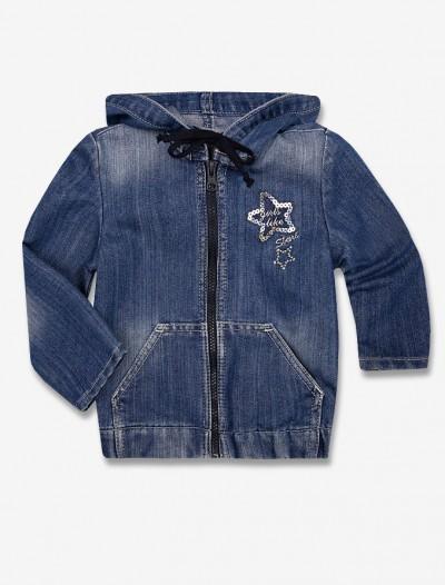 Джинсовая куртка с пайетками Глория Джинс