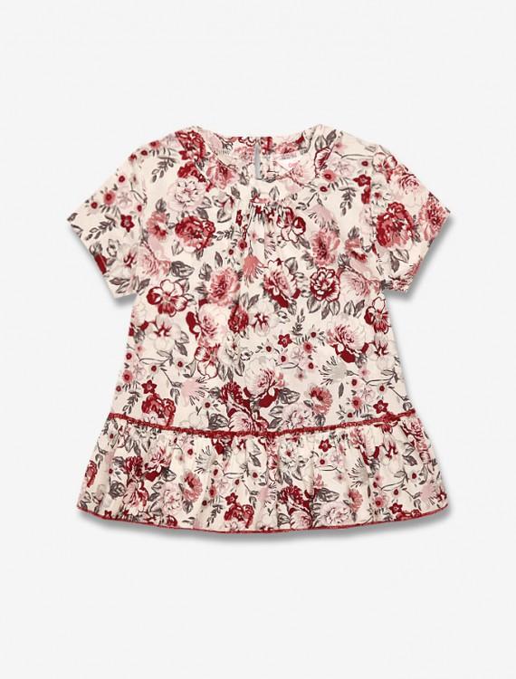 Блузка с цветочным принтом Глория Джинс