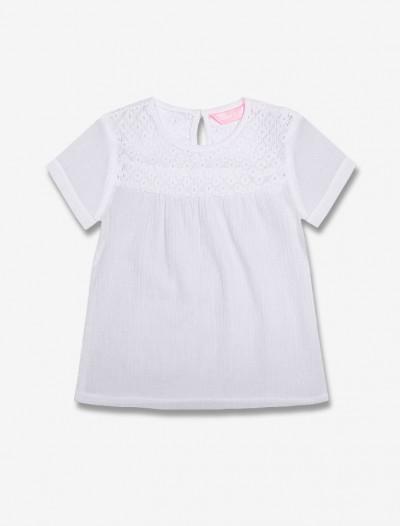 Блузка с кружевом Глория Джинс
