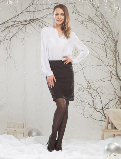 Блузка с блестящей окантовкой Глория Джинс