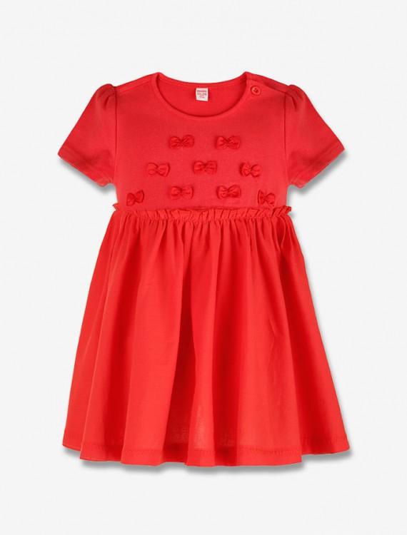 Яркое платье с бантиками Глория Джинс