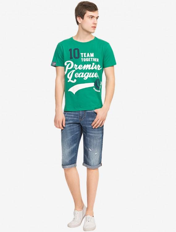 Яркая футболка с текстовым принтом Глория Джинс