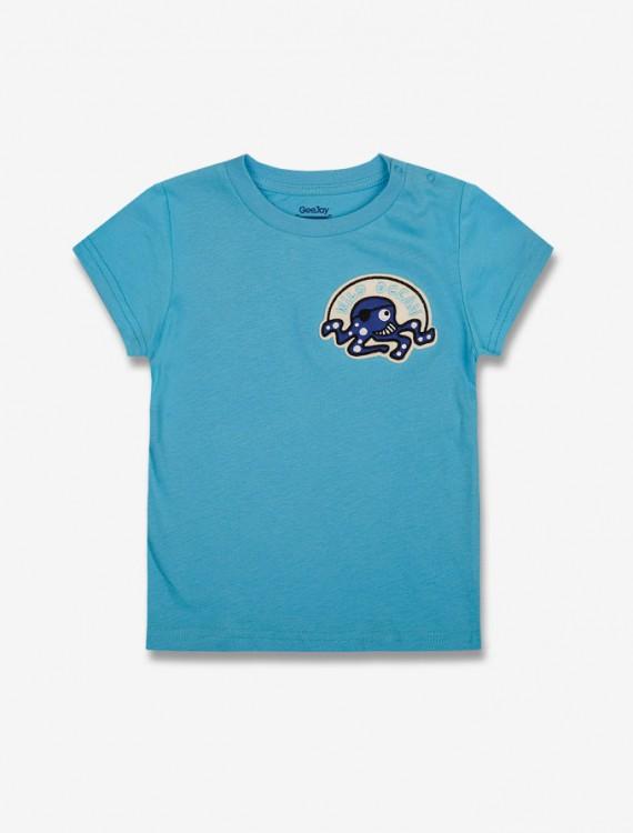 Яркая футболка с нашивкой Глория Джинс
