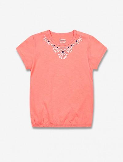 Яркая футболка с вышивкой Глория Джинс