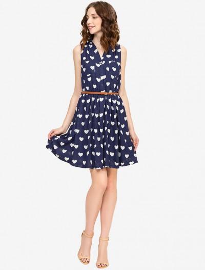 Шифоновое платье с ремнем Глория Джинс