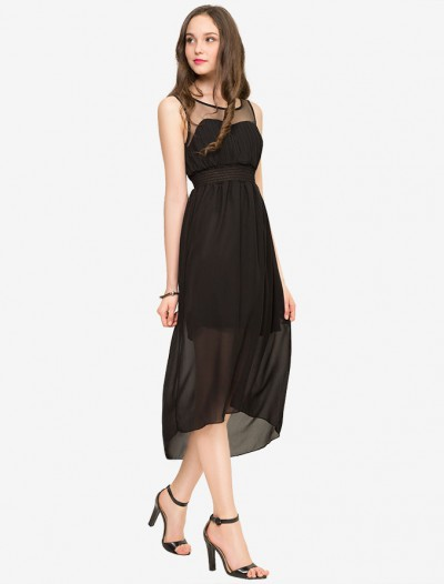 Шифоновое платье с асимметричным кроем Глория Джинс