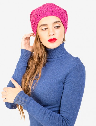 Шапка с рельефным плетением Глория Джинс