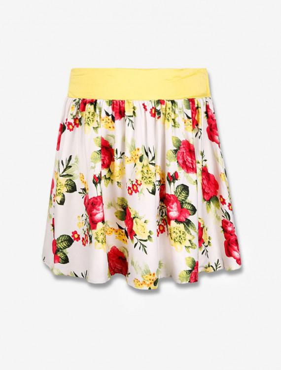 Цветочная юбка с кокеткой Глория Джинс