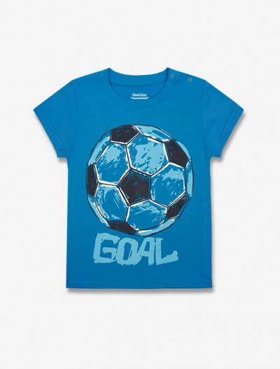 Футболка с принтом спортивной тематики Глория Джинс