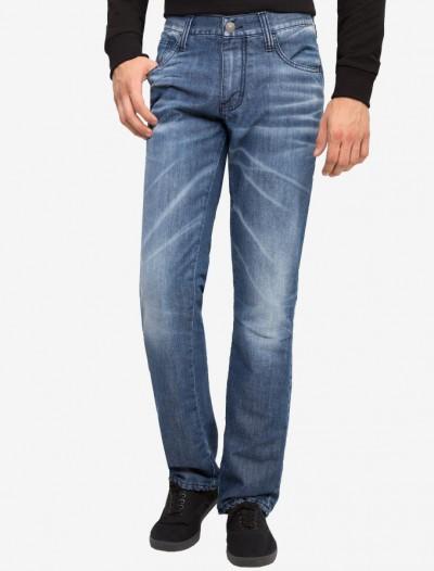 Утепленные джинсы SLIM цвета индиго Глория Джинс