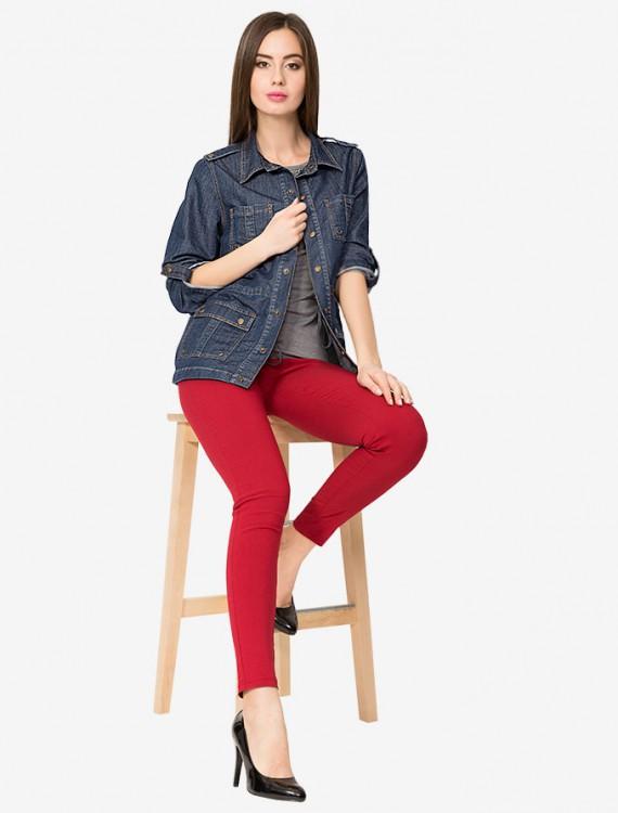 Удлиненный джинсовый жакет Глория Джинс