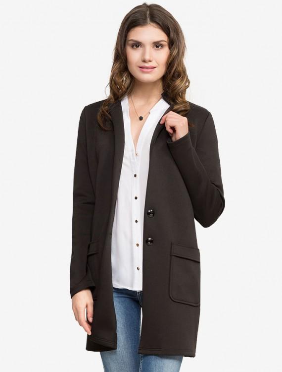 Удлиненное пальто с карманами Глория Джинс