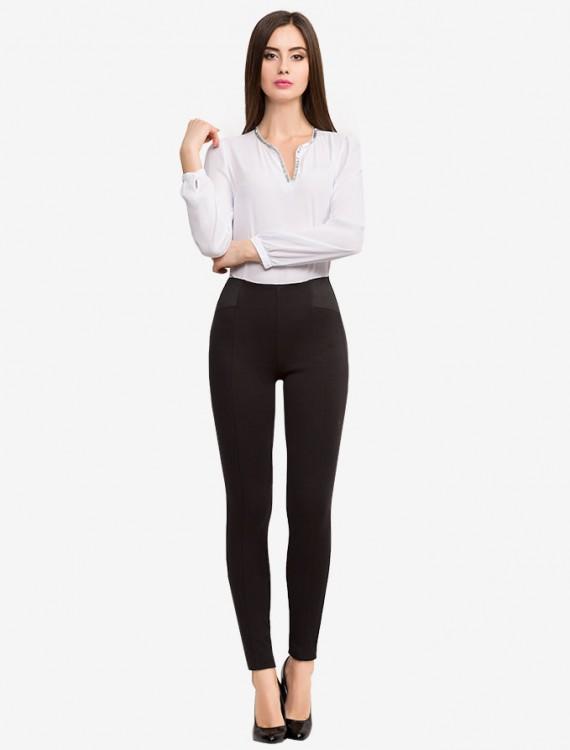 Трикотажные брюки High Rise с эластичными вставками Глория Джинс
