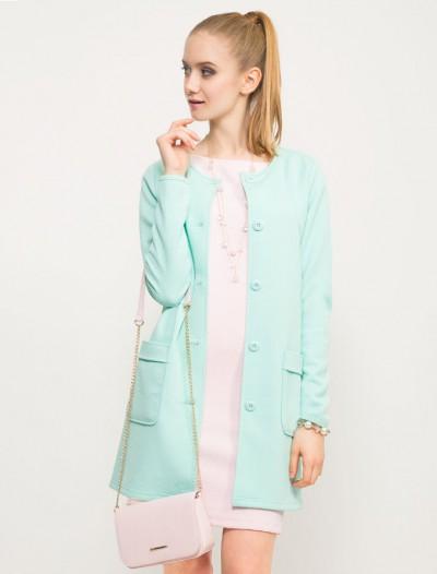 Трикотажное пальто мятного оттенка Глория Джинс