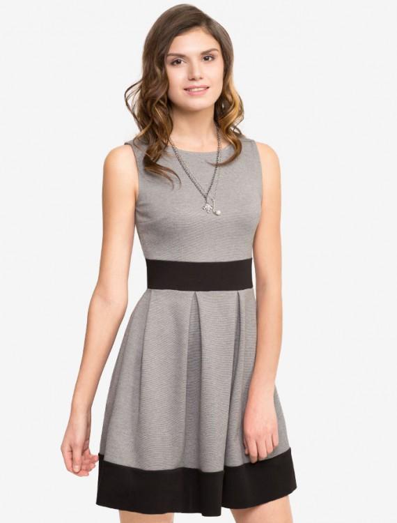 Трикотажне платье с контрастными вставками Глория Джинс