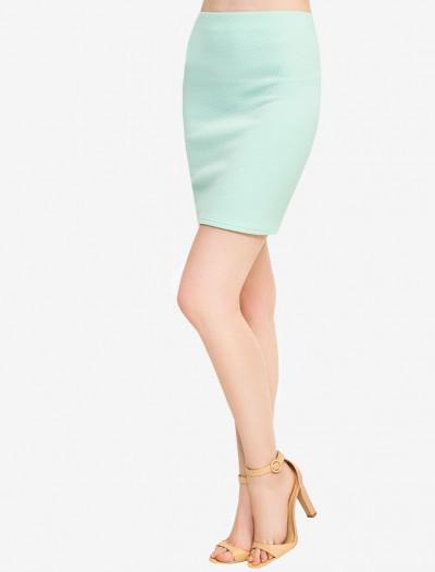 Трикотажная юбка мятного оттенка Глория Джинс