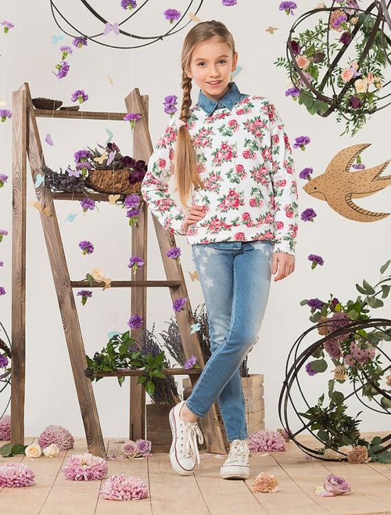 Толстовка с цветочным принтом Глория Джинс