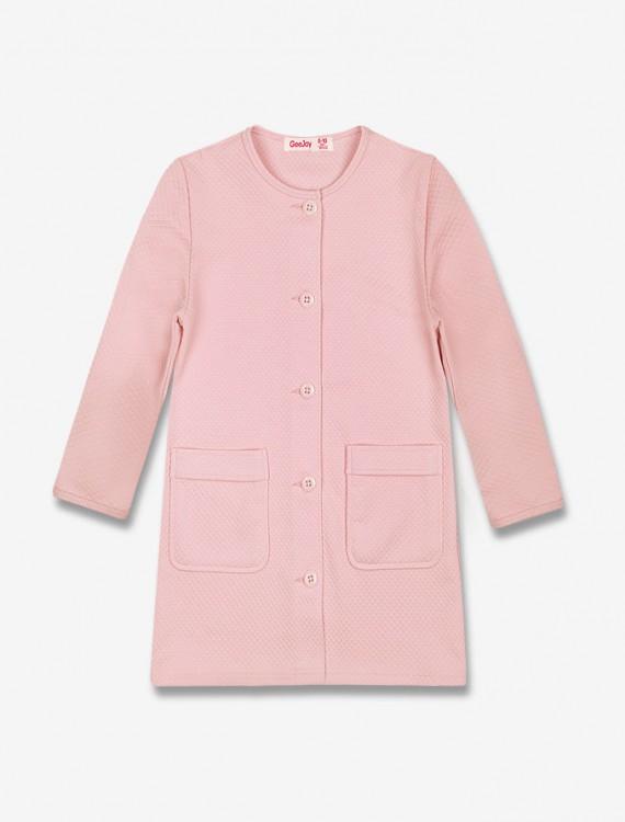 Стеганое пальто нежного-розового цвета Глория Джинс