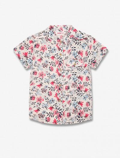 Рубашка с цветочным узором Глория Джинс