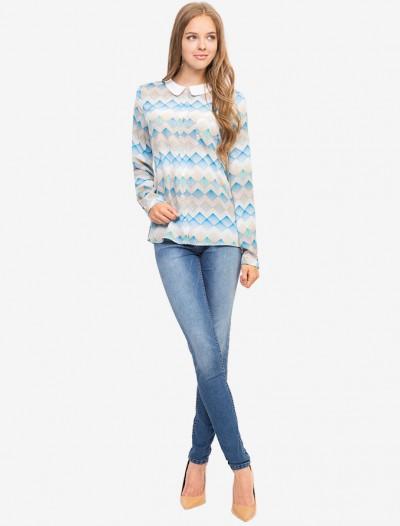 Рубашка с разноцветным орнаментом Глория Джинс
