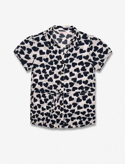 Рубашка с контрастным рисунком Глория Джинс