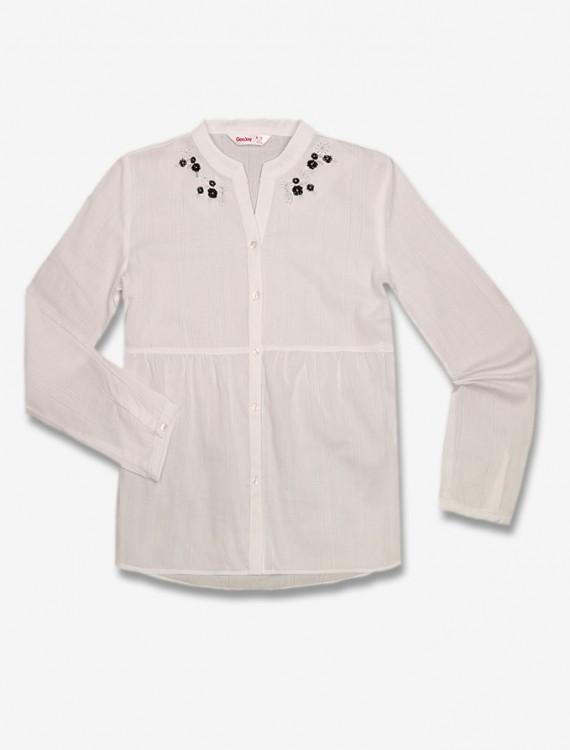 Рубашка с вышивкой Глория Джинс