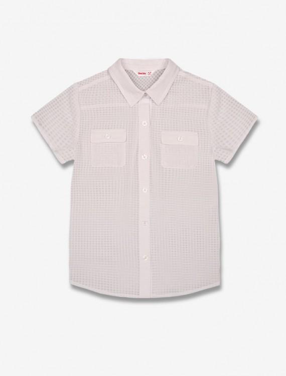 Рубашка в мелкую клетку Глория Джинс