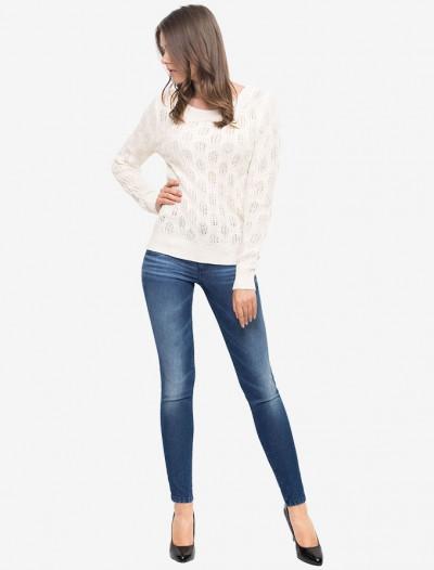 Пуловер с ажурным плетением Глория Джинс