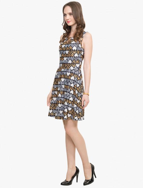 Приталенное платье с принтом Глория Джинс