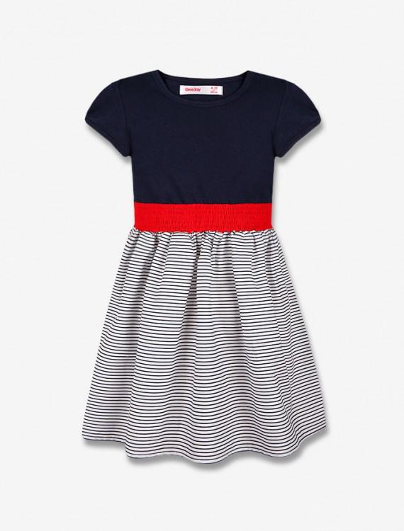 Платье с ярким поясом Глория Джинс