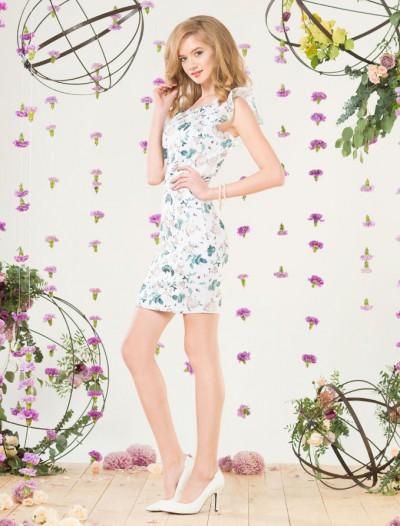 Платье с цветочным принтом и рукавами-крылышками Глория Джинс