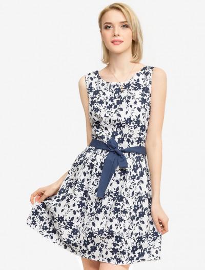 Платье с поясом Глория Джинс