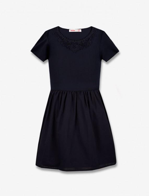 Платье с кружевной отделкой Глория Джинс
