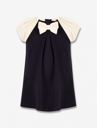 Платье с контрастными рукавами Глория Джинс