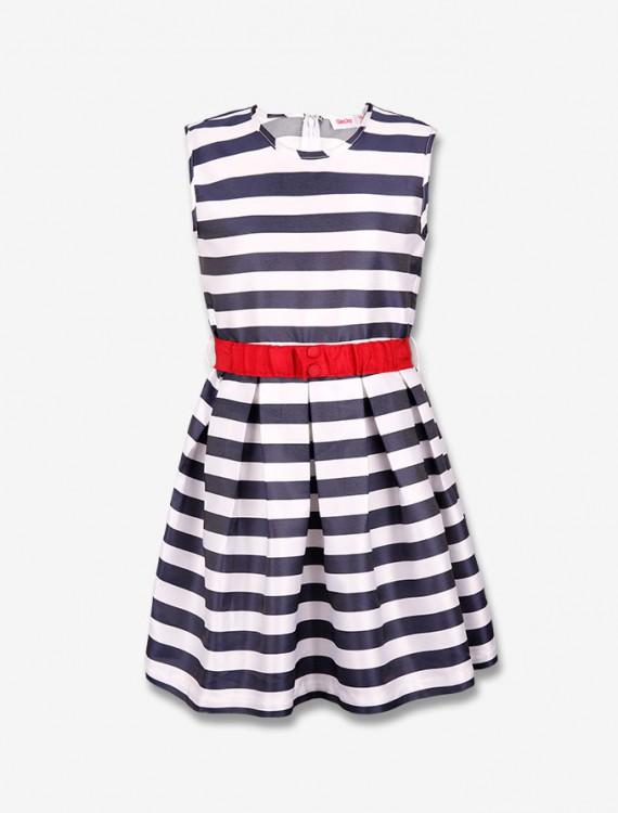Платье с контрастным поясом Глория Джинс
