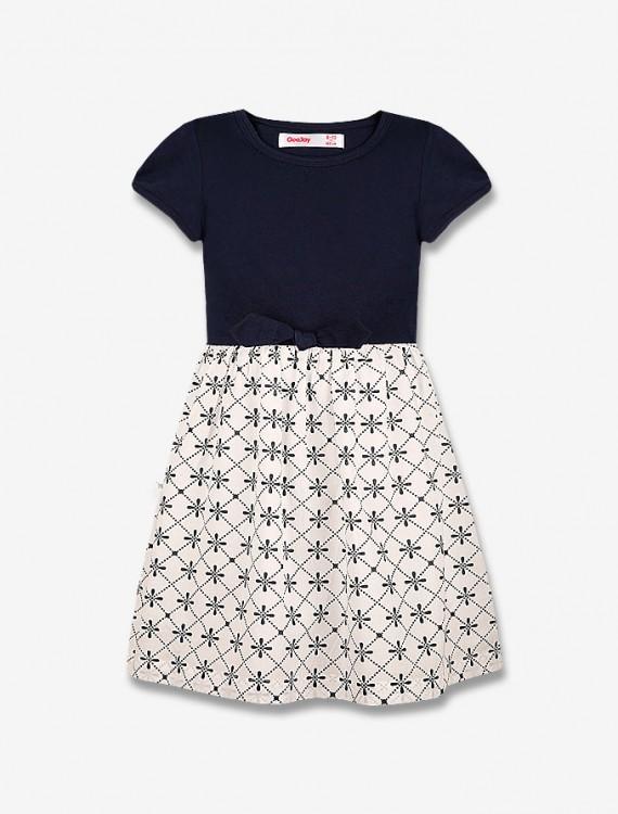 Платье с контрастной юбкой Глория Джинс