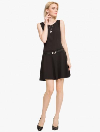 Платье с кожаным ремнем Глория Джинс