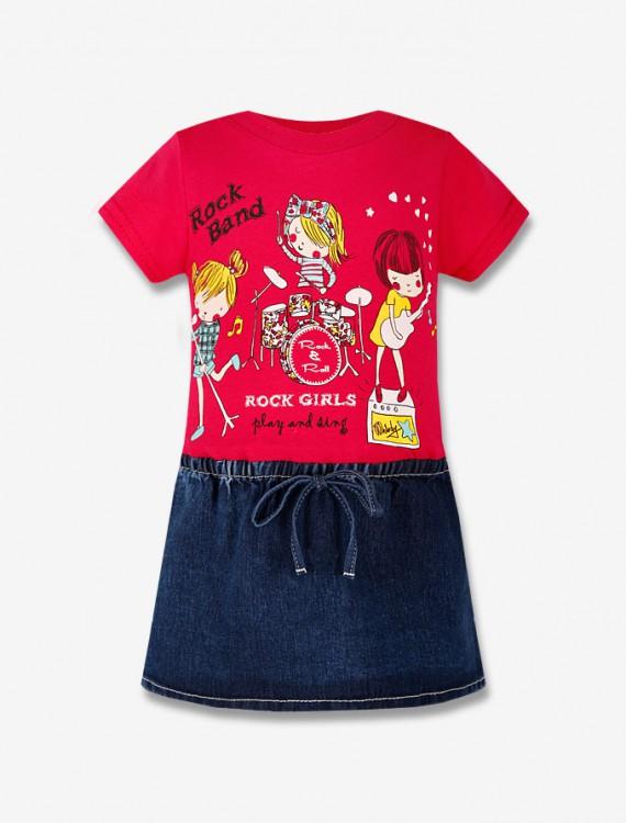 Платье с джинсовой юбкой Глория Джинс