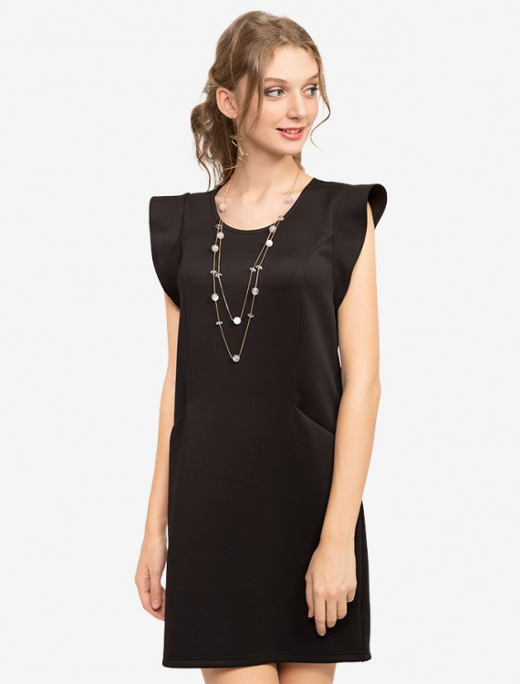 Платье прямого кроя с карманами Глория Джинс