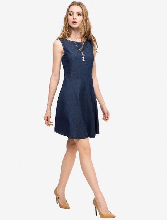 Платье Medium-dark из денима Глория Джинс