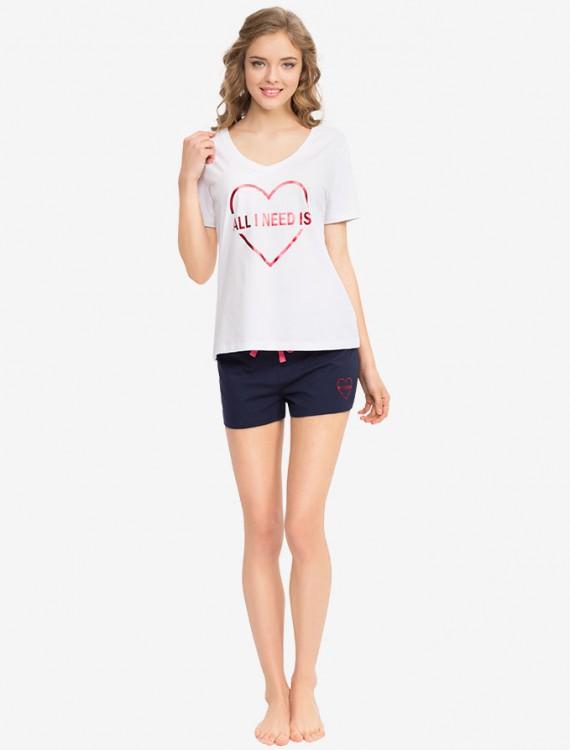 Пижамная футболка с принтом Глория Джинс