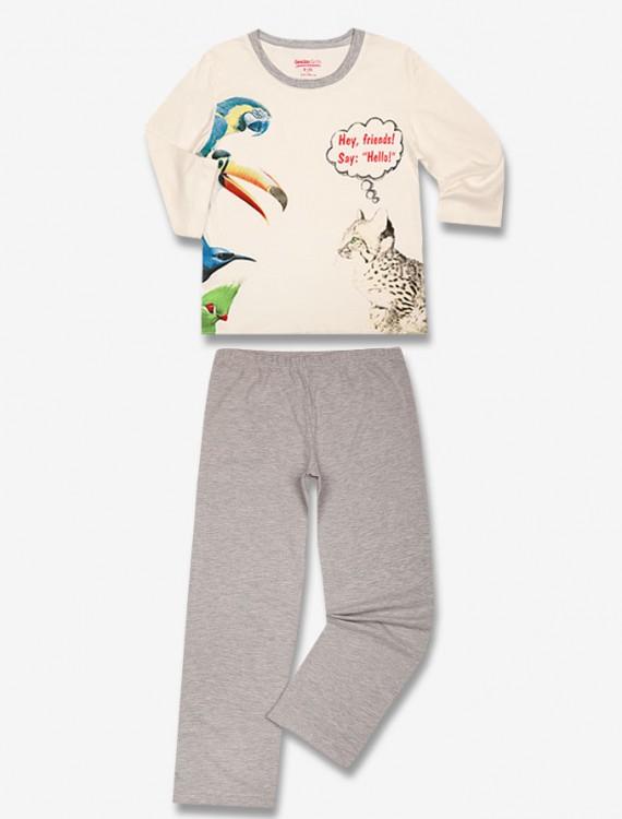 Пижама с анималистическим принтом Глория Джинс