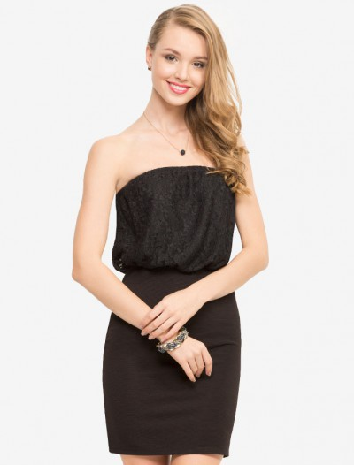 Облегающее платье-бандо Глория Джинс
