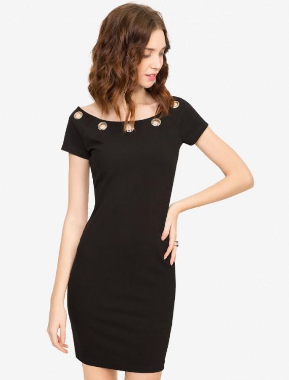 Облегающее платье с клепками Глория Джинс