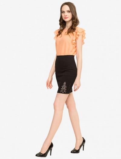 Облегающая юбка с перфорацией Глория Джинс