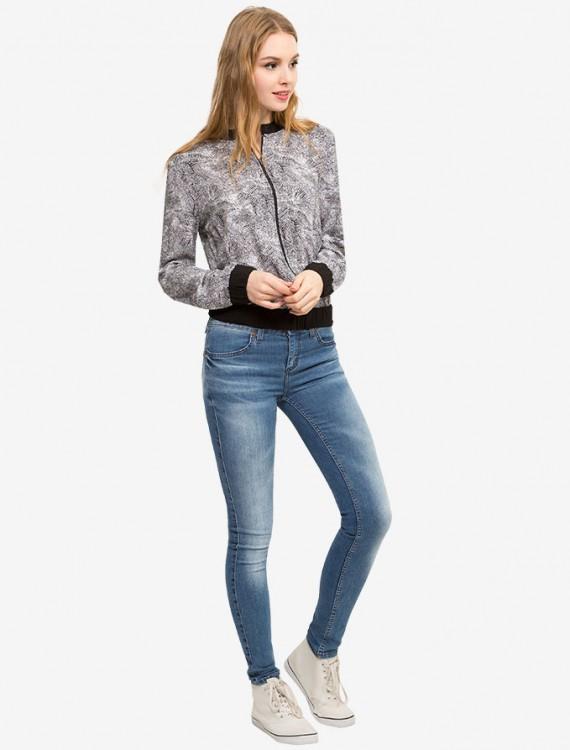 Куртка с контрастными манжетами Глория Джинс
