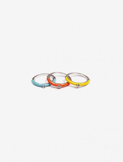 Комплект разноцветных колец Глория Джинс